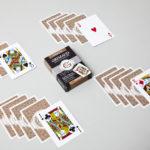 Étui du jeu de cartes poker 500 or