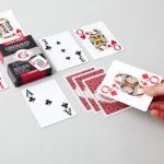 Étui du jeu de cartes poker jumbo rouge