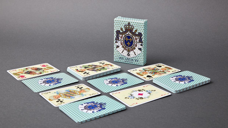 Jeu historique louis XV bleu