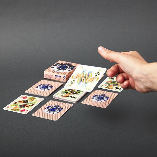 Jeu de cartes louis XV rose