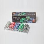 Coffret cristal 100 jetons Grimaud