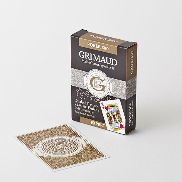 Cartes à jouer Poker 500 or Grimaud Expert