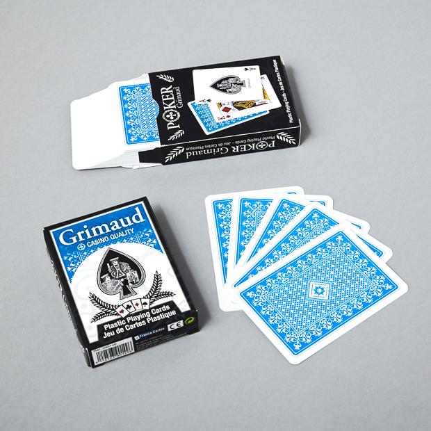 Jeu de poker jumbo bleu Grimaud