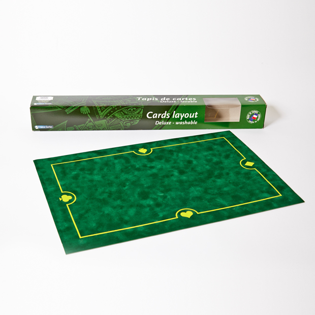 Tapis de jeu en suédine belote vert