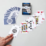 Étui du jeu de cartes bridge bleu