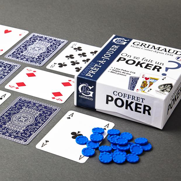Coffret Grimaud prêt-à-jouer poker