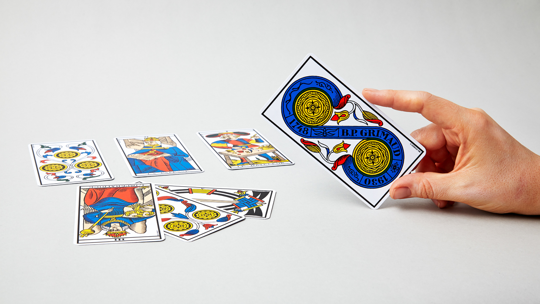Jeu de cartes ancien tarot de Marseille Grimaud