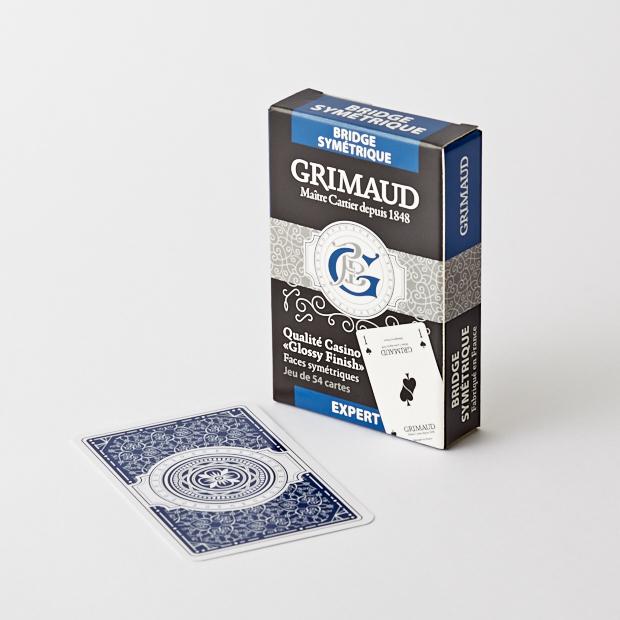 Étui du jeu de cartes bridge symétrie bleu