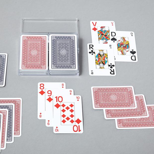 Cartes à jouer 2x54 cartes optic bridge