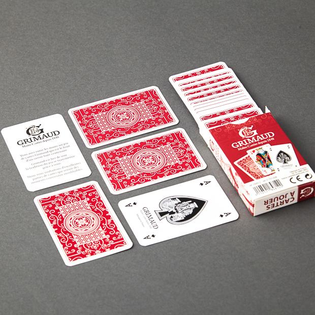 Cartes à jouer 54 cartes grimaud origine rouge