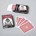 Jeu de poker jumbo rouge Grimaud