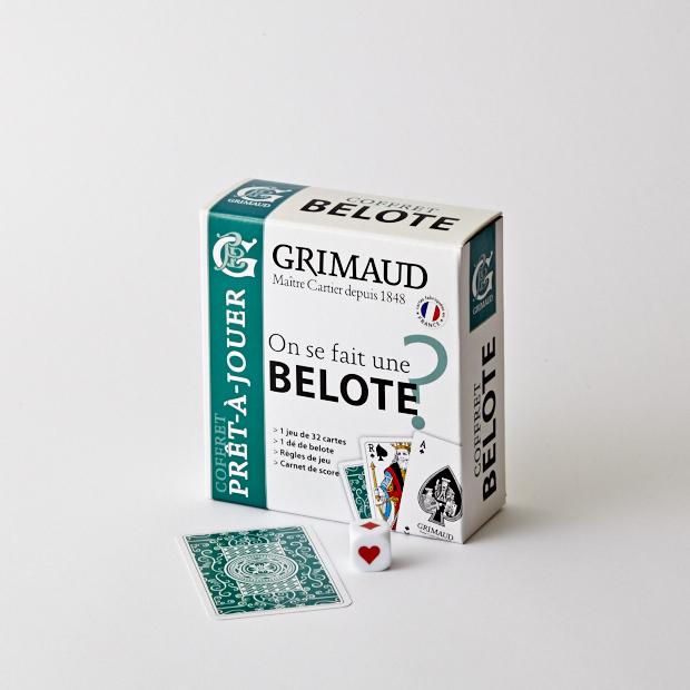 Coffret Grimaud prêt-à-jouer belote