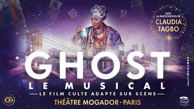 Claudia Tagbo dans la peau de la cartomancienne Oda Mae, dans Ghost Le Musical